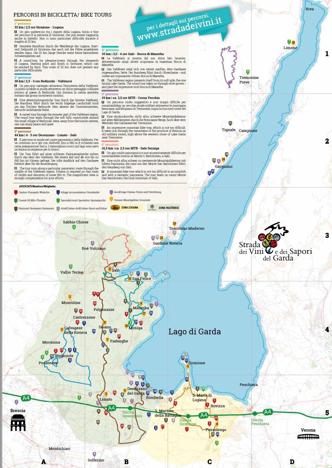 weinstrasse gardasee karte Gardasee Wein und Essen Tour   Blog